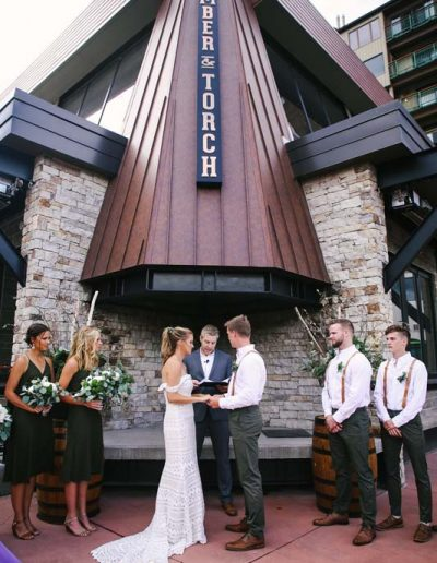 timber and torch outdoor wedding