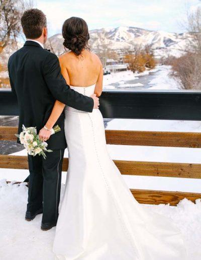 winter wedding steamboat springs colorado
