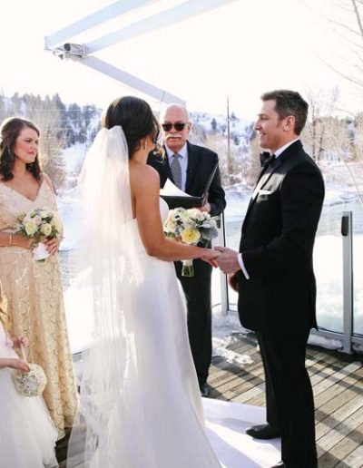 outdoor wedding steamboat springs colorado
