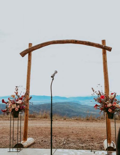 arch for outdoor wedding
