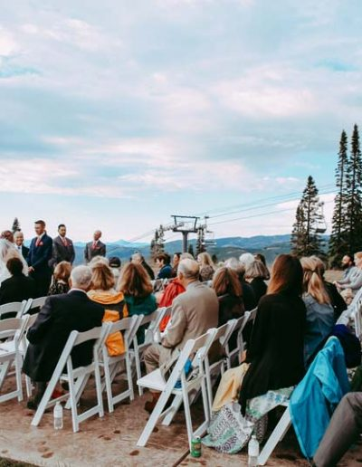 wedding outside at four point lodge steamboat springs resort