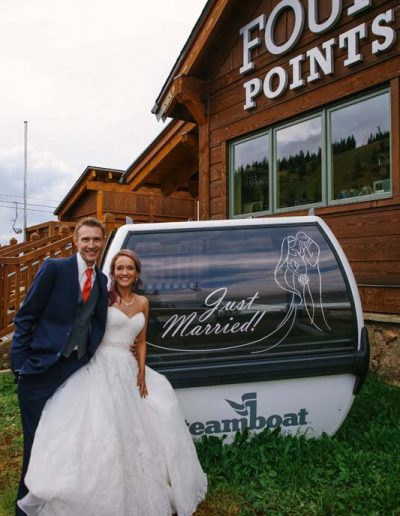 wedding at four points lodge steamboat springs colorado