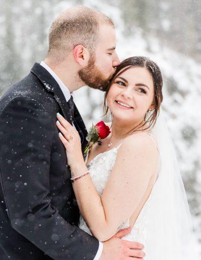 winter elopement colorado