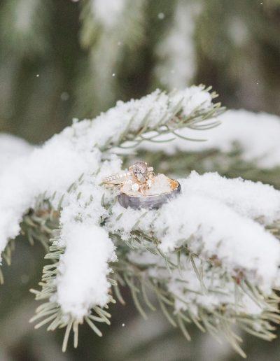 winter rings elopement