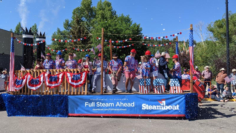 Parade float for Steamboat Resort.